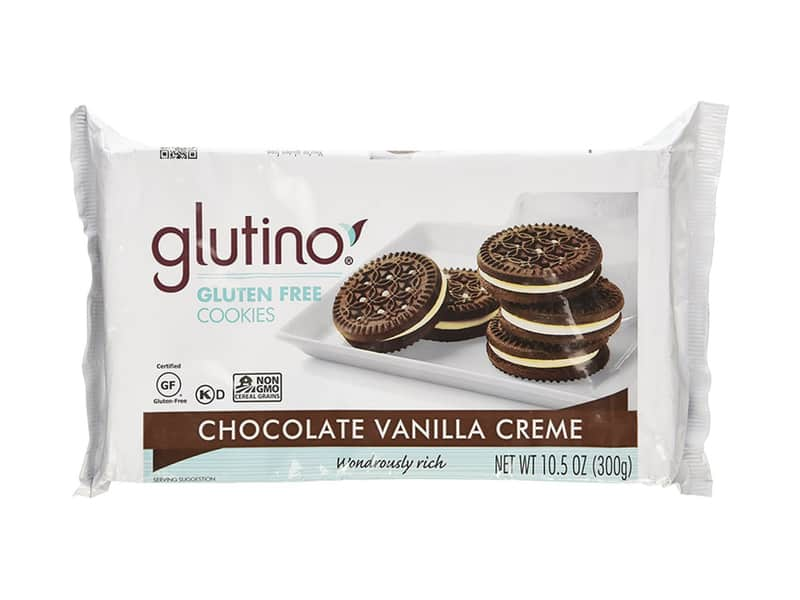 Glutino Chocolate Vanilla Cream Cookies