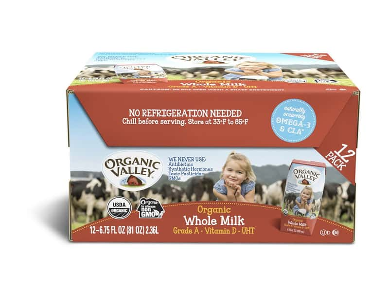 Organic Valley, Organic Milk Boxes, Whole Milk