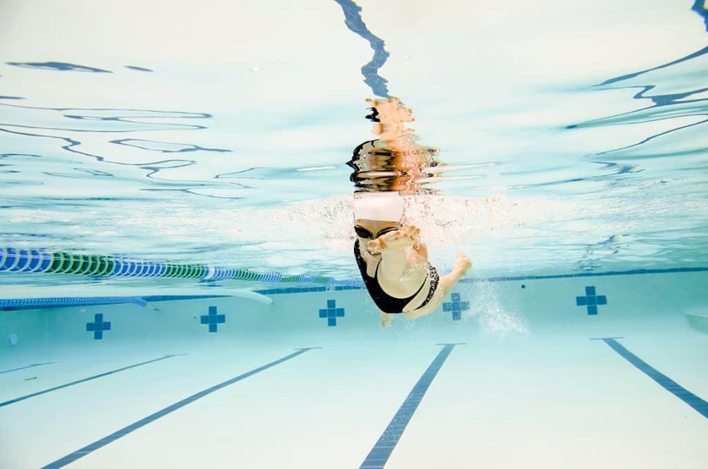 Caroline Burckle Swimming
